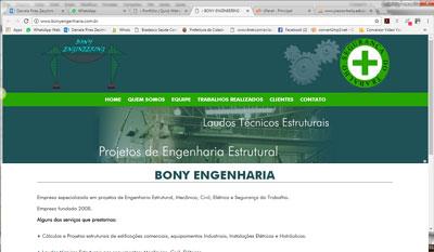 BONY ENGINEERING - LAUDOS TÉCNICOS EM ENGENHARIA, PROJETOS DE ENGENHARIA ESTRUTURAL